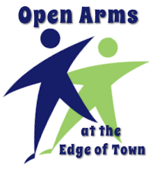open arms at the edge of town