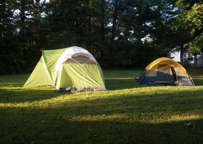 tent camping at Open Arms at the Edge of Town Luray VA