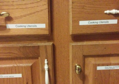 Labeled Drawers in Kitchen